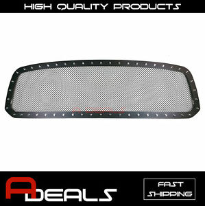 Dodge Ram 1500 2013 2014 2015 16 2017 Steel Black Rivet Wire Mesh Grille Cut Out