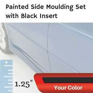 Painted W Black Insert Body Side Moulding Set For Land Rover Lr2 Sport Utility