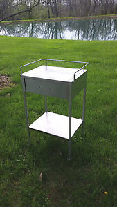 Stainless Steel Cart W One Drawer On Castors No Handle