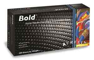 Aurelia Bold Pf Black Nitrile Exam Gloves Case Of 1000 S 2xl 73996 73990