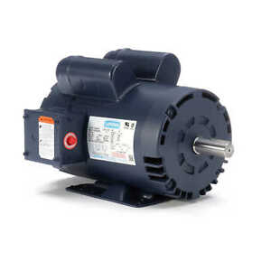 Leeson 120554 00 5 Hp 3450 Rpm Electric Motor 1 ph 230 Volt Fits Air Compressor