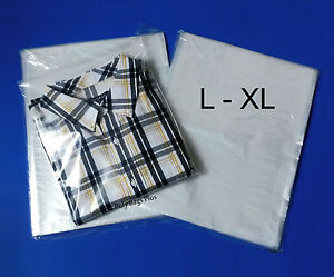 1000 12x16 Clear Plastic Poly Bags Large Xl Shirt 1mil Flat Open Top Baggies