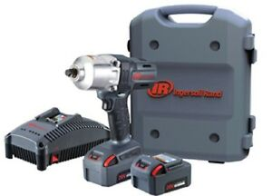 Ingersoll Rand W7150 K22 1 2 Impact 20 Volt Lith Ion 5 Amp Kit Two Battery New