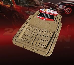 Dickies All Weather Water Proof 2pcs Front Floor Mats Tan For Ford Car