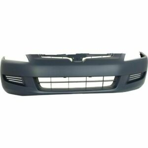 New Front Bumper Cover Primered For Honda Accord Coupe 2003 2005 Ho1000211