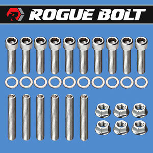 Bbf Intake Manifold Stud Bolt Kit Stainless Steel Bolts Big Block Ford 429 460