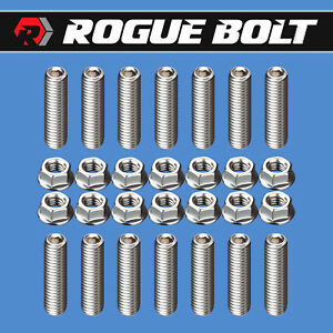 Bbc 348 409 Header Stud Kit Bolts Stainless Steel Big Block Chevy 58 65
