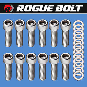 Sbc Intake Manifold Bolts 3 8 X 1 1 4 Stainless Steel Small Block Chevy 350 Tpi
