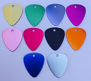 50 Guitar Picks Anodized Aluminum Blank Wholesale Laser Chewbarka