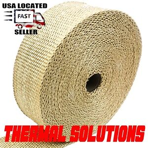 Exhaust Heat Header Wrap 1 16 X 2 X 50 Tan High Temperature Pipe Insulation