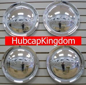 15 Full Moon Chrome Hubcaps Wheelcover Set