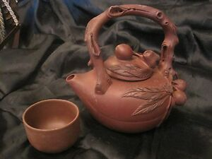 Yixing Clay Teapot With Lid And 1 Cup Made In China