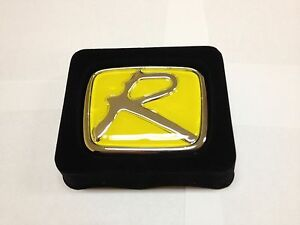 Yellow R Honda Emblem Badge Jdm Civic Si Accord Honda Integra Type R H Logo