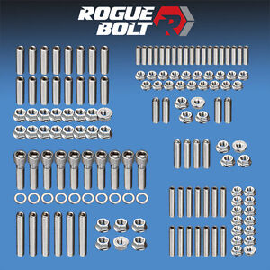 Bbf Big Block Ford 429 460 Engine Stud Kit Bolts Stainless Steel Car Truck