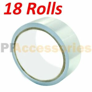 18 Rolls 26 Ft X 1 88 Aluminum Foil Heat Shield Tape Hvac Heating A c Sealing A