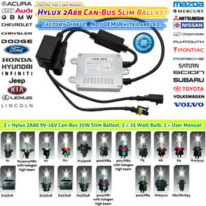 Philips Can Bus Slim Ballasts Hid Xenon Kit Hb1 Hb2 Hb3 Hb4 Hb5 H11 6000k White