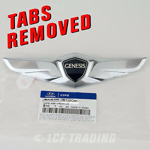 2015 Hyundai Genesis Sedan Oem Trunk Wing Emblem With Tabs Removed