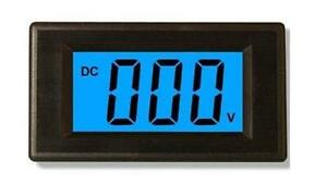 5pcs 3 1 2 Dc0 199 9mv Blue Lcd Digital Volt Panel Meter voltmeter