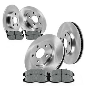 Front Rear Brake Rotors Metallic Pads For 2003 2004 2005 2006 2007 Jeep Liberty