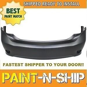 Fits 2009 2010 Toyota Corolla Rear Bumper Painted To Match to1100264