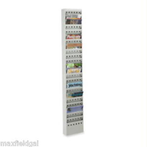 Used Safco 4322 Magazine Wall File Rack 23 Pocket 65 50 H X 9 75 W X 4 D