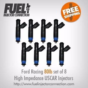 Ford Racing 80lb hr High Impedance Injector Set Of 8
