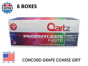 Qartz Prophy Paste Cups Concord Grape Coarse 200 box Dental W fluoride 6 Boxes