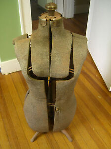 Vintage Adjustable Dress Form Mannequin Female Torso C 1950