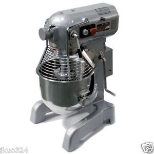 New Commercial 20 Qt Mixer With 3 S s Attachments