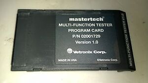 Mastertech Multi function Tester Program Card