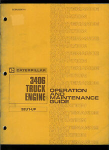 Rare Original Factory 1980 Caterpillar Owner s Manual For 3406 Truck Engines