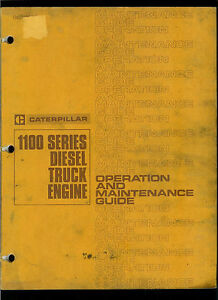 Rare Original Factory 1974 Caterpillar Owner s Manual 1100 Diesel Truck Engines