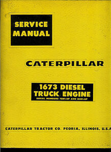 Rare Sealed Factory 1969 Caterpillar Service Manual 1673 Diesel Truck Engines
