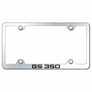 Lexus Gs350 Mirroed Chrome Stainless Steel License Plate Frame