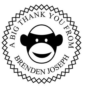 Monkey Round Unmounted Custom Text Stamp For Self Inking Rubber Stamps 1 5 8 dia