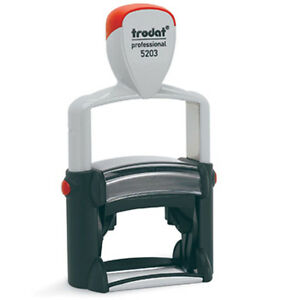 New Personalised Trodat Professional 5203 Self inking Stamp
