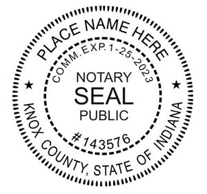 Notary Indiana Custom Round Self inking Notary Seal Rubber Stamp Ideal 400r