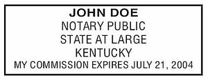 Kentucky New Pre inked Official Notary Seal Rubber Stamp Office Use