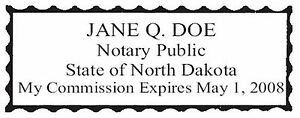 North Dakota New Pre inked Official Notary Seal Rubber Stamp Office Use
