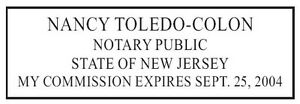 New Jersey New Pre inked Notary Seal Rubber Stamp Trodat 4913