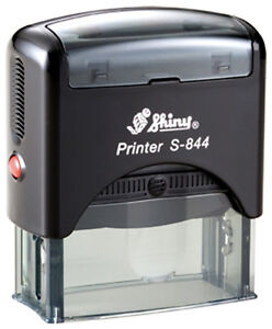 Shiny Printer S 844 Custom 5 Line Text Address Office Self inking Rubber Stamp