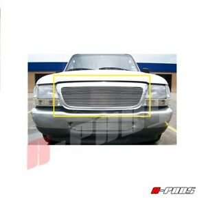 For Ford 1998 1999 2000 Ranger Upper Billet Grille Insert Replacement Cut Out