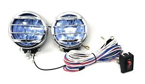 Set 4 Round Universal Hid Style Fog Driving Light Truck Car Wiring Kit Bumper