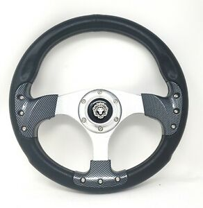 Club Car Precedent Steering Wheel Golf Cart W Billet Polished Adapter 3 Spoke
