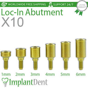 10 Locator Titanium Abutment Dental Implant Dentist Internal Hex Prosthetic
