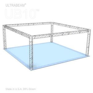Trade Show Booth 20 X 20 X 8 Made Of Aluminum Triangle Trusses