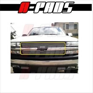 For Chevy 1999 2000 01 02 Silverado 1500 Upper Replacement Billet Grille Insert