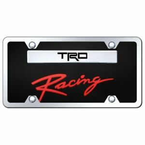 Trd Racing Chrome Black Acrylic Front License Plate Toyota Racing Novelty