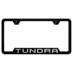 Toyota Tundra Logo Laser Etched Black License Plate Frame Stainless Steel Trd