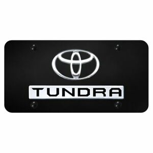 Toyota Tundra Chrome Black Front License Plate Trd Novelty Logo Stainless Steel